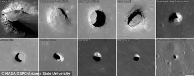Сотни черных ходов появляются на Марсе, Луне и Земле